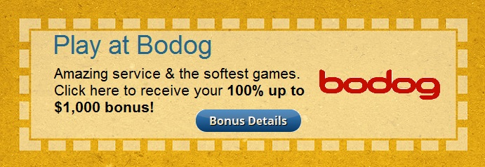 A coupon for a $1,000 bonus on Bodog